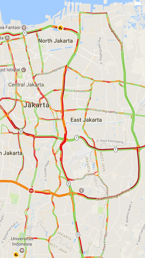 Jakarta Traffic Google Maps - How Google Knows About live Traffic