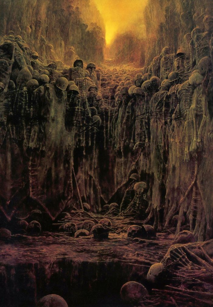 Polish Painter Zdzislaw Beksinski Paints Dreams and Nightmares