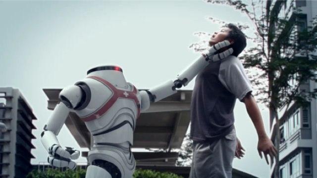 robot killing man
