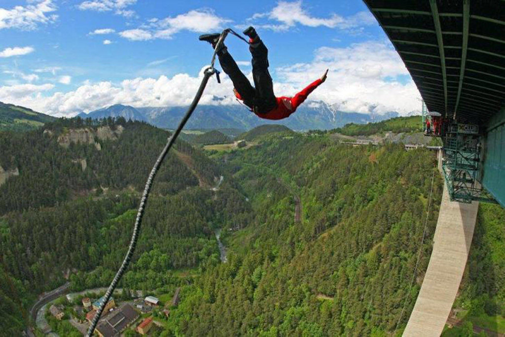 Bungee Jump in Europabrücke Bridge, Innsbruck, Austria 192 meters - 187 USD