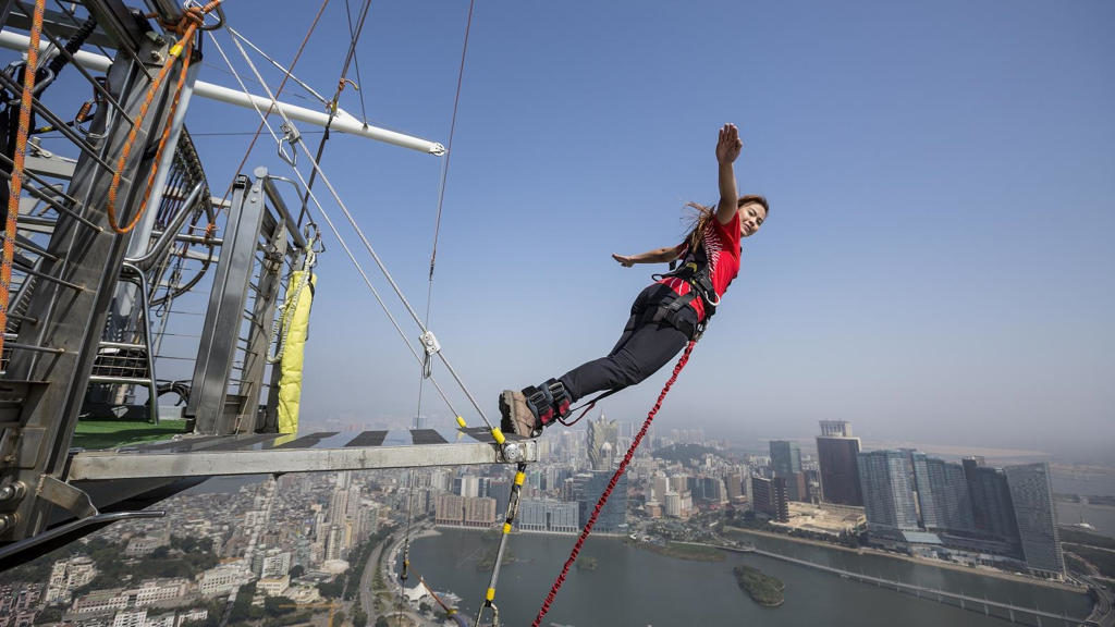 Macau Tower Bungee Jump 233 meters - 450 USD
